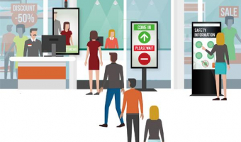 Navigating the new normal: Using smart digital signage in a changed retail environment