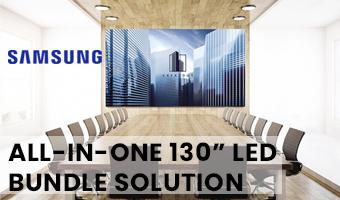 """Promo! All-in-one 130"""" Samsung LED Bundle Solution"""